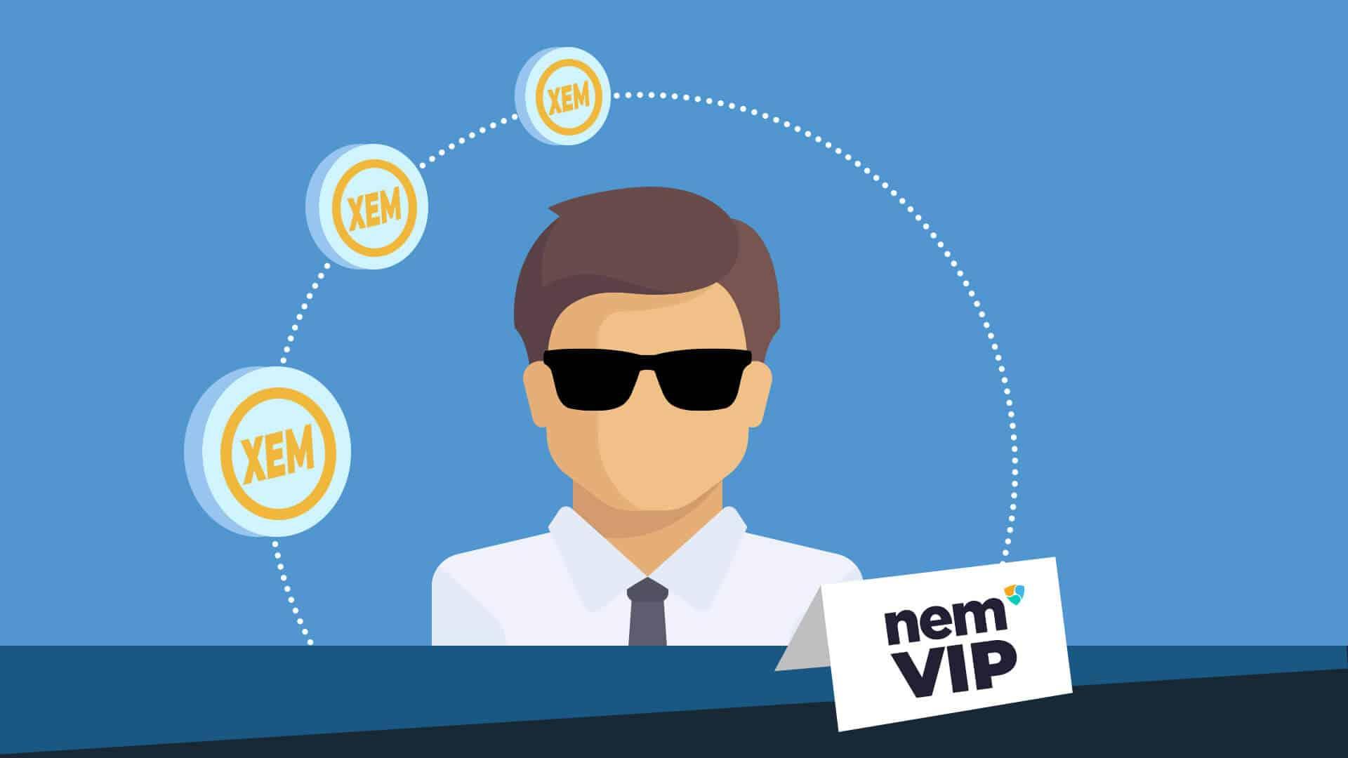 Proof of Importance, dargestellt durch einen VIP der Kryptowährung NEM